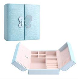 $enCountryForm.capitalKeyWord UK - Promotion 15*15*6.5cm PU Leather Top Quality Sundries Cosmetic Box.Storage Box, Jewelry Jewellry Box Case