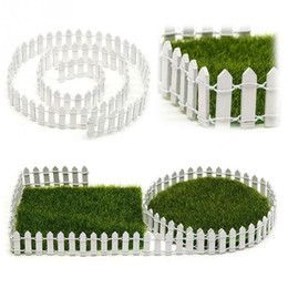 Vendita calda all'ingrosso Accessori fai da te Decor Miniature Fairy Garden Kit Legno recinzione Terrarium Doll House Decor