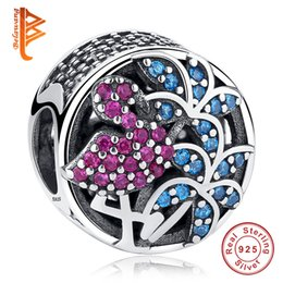 Multi colored bracelets online shopping - BELAWANG Sterling Silver Flamingo Charms Crystals Multi Colored CZ Loose Beads Fit Pandora Charm Bracelets Bangles DIY Jewelry Making