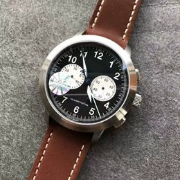 vintage chronograph men watch NZ - 39mm high quality automatic chrono chronograph men watch sapphire crystal vintage wristwatch luxury watches genuine leather strap