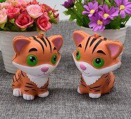 $enCountryForm.capitalKeyWord Canada - Wholesale Jumbo Kawaii Squishy Tiger Squeeze Bread Super Slow Rising Animal Phone Straps Soft Scented Cake Toys Doll Gift