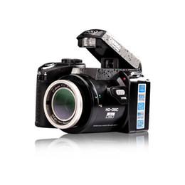 Telescope Free Shipping Canada - 2016 New 16MP HD D3300 Digital Camcorder Camera Wide Angle Lens 21x Optical Telescope Lens D3000 D3200 Stock drop ship 1pcs Free DHL