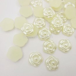 $enCountryForm.capitalKeyWord Canada - 8mm 1000pcs lot resin ivory ABS imitation pearl beads rose flower designed flat back cabochon pearls for DIY nail art decoration