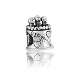 Flat Letters For Bracelets UK - 2016 new Pandora bracelet letter charm birthday cake S925 pure silver accessories DIY beads joker heart loose beads for thread bracelet