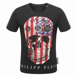Barato Moda Masculina Design Casual Camisas-2017 New Fashion Design T-shirt Medusa Men's Skulls Print T-shirt Short Sleeve Masculino Funny Tops Casual Robin T camisetas