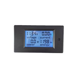 Dc voltage powereD lcD Display online shopping - LCD display DC multifunction meter Wh kWh ampere voltage power Energy meter DC multifunction panel meter