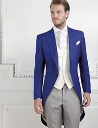 Discount Grey Suit Royal Blue Prom | 2017 Grey Suit Royal Blue ...