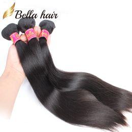 Bella Hair® Fábrica Por Atacado BrazilianHair 8A Reta de Seda Cabelo Indiano Bundles Malaio Cambojano Peruano Virgem Cabelo Frete Grátis venda por atacado