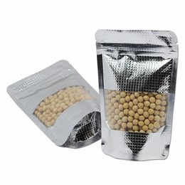Stand up zip poucheS wholeSale online shopping - Stand Up Lines Embossed Aluminum Foil Zip Lock Bags Food Coffee Storage Packaging Zipper Doypack Pouch Bag With Clear Window