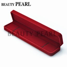 $enCountryForm.capitalKeyWord Canada - Rectangle Red Velvet Gift Box for Necklace Show Case Display Storage Jewelry Boxes