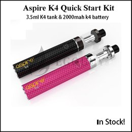 Ijust2 battery online shopping - Aspire K4 Quick Start Kit With ml Cleito Tank atomizer mah K4 Battery Aspire Cleito Coils subvod mega ijust2 nano one Original