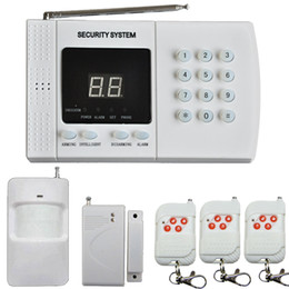 pir home alarm security Canada - Wireless Home Office PIR Infrared Motion Alarm Security Burglar Alarm System Auto Dialing Dialer 3x Remote Control