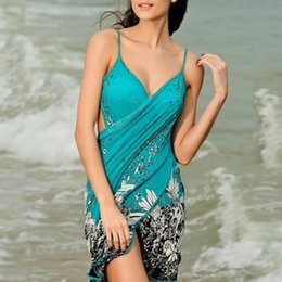 Enveloppes Pour Maillots De Bain Pas Cher-Women Beach Cover-ups Sexy Sling Beach Wear Dress Sarong Bikini Cover-ups Wrap Pareo Robe Jupes Serviette de survêtement à revers ouvert 2506024