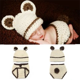 Crochet Baby Star Australia - Baby Costume Crochet Baby Cap Newborn Baby Rabbit Shape Photography Props Design Hat Newborn Photo Props Knitted BP095
