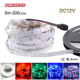 12v lamp flexible 2019 - 5M 300Leds Non-waterproof RGB Led Strip Light 3528 SMD DC12V Flexible Light Led Ribbon Tape Home Decoration Lamp discoun