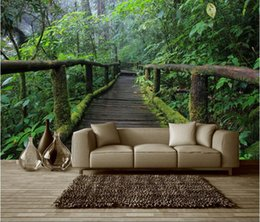 $enCountryForm.capitalKeyWord UK - 3d wallpaper custom photo non-woven mural wall sticker wooden bridge to the original forest painting picture 3d wall room murals wallpaper
