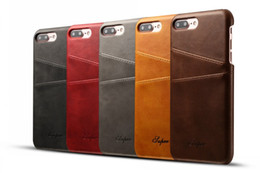 Luxury Credit Card Iphone Australia - New Luxury Fashion Business Style Wallet phone Case For iphone 7 With Credit Card pokect Slots leather Case Cover for iphone 7 plus