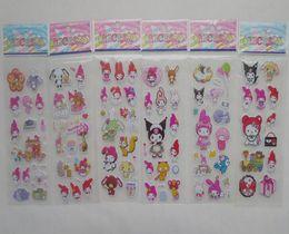 Neue Ankunft 100sheets / lot nette meine Melodie-Aufkleber-Puppen-Spielwaren für Kinder 6 Art-Karikatur-Aufkleber-Geburtstagsfeier-Dekoration im Angebot