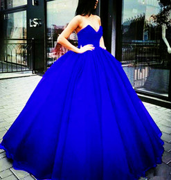 $enCountryForm.capitalKeyWord Canada - Classic Ball Gown Prom Dresses 2018 Sweetheart floor length puffy Tulle Quinceanera Dresses bandage Formal Masquerade evening party Gowns