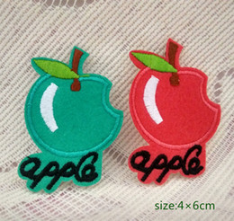 baby iron patches UK - Fruits Apples Iron Sew On Patch Applique Green Red Girl Cap Bag Shirt Kids Toy Gift baby Decorate Individuality