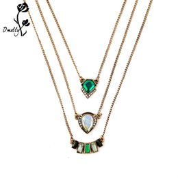 $enCountryForm.capitalKeyWord UK - Statement Necklaces Mutil Layers Pendant Necklace Gold Filled KS Charms Crystal Necklace Christmas Jewelry Wholesale in Bulk Cheap