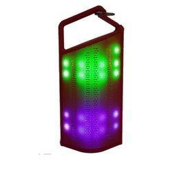 Умный мини портативный беспроводной динамик Bluetooth светодиодный свет Стерео динамик открытый для Sumsung / Iphone / смартфон