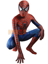 Costume Pour Homme Et Femme Pour Homme Zentai Pas Cher-Livraison gratuite Raimi Spiderman Costume 3D Printed Kids / Adulte Lycra Spandex Spider-man Costume pour Halloween Fullbody Zentai Suit Hot Sale