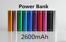 $enCountryForm.capitalKeyWord Australia - 100pcs free shipping cylinder shape 2600mah Portable Mobile Power Bank 5V 1A USB Battery Charger 18650 power bank for your Phone