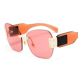 ad7a4e8df588 Super Cat Eye Sunglasses retro frameless lady luxury rivet famous brand  cool transparent lens candy color gradient type frame sunglasses