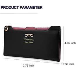 horizontal zipper NZ - 2016 New Arrival Clutch Wallets Bowknot Letter Solid Color Hasp Zipper Horizontal Long Wallet With Zipper And Hasp for Lady