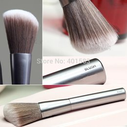 Hair Angles Canada - 100pcs-New Arrival Brand New Cosmetics Good Karma Face Angled Blush Powder Brush Synthetic Hair blusher makeup single brush,free DHL shiping