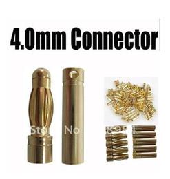 $enCountryForm.capitalKeyWord Canada - 20 pair  lot hot sale 4.0 4 mm banana connector plug 4.0mm Gold Bullet Connector