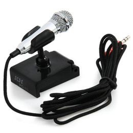 $enCountryForm.capitalKeyWord Canada - Mini Condenser Microphone Karaoke Voice Recording Mobile Phone Computer Sing Miniature Mic Microphone For Smart Phones Laptops