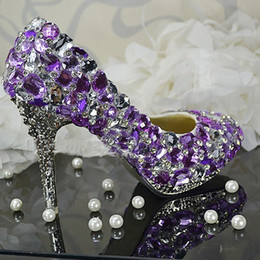 Discount Purple Beautiful High Heel Shoes | 2018 Purple Beautiful ...
