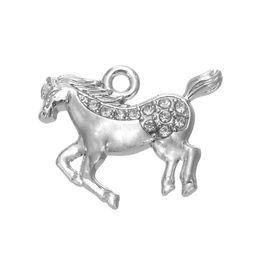 $enCountryForm.capitalKeyWord UK - Crystal Running Steed Horse Cute Animal Charms 50PCS A lot