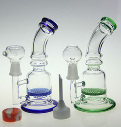 Type smoking Tools online shopping - Newest Glass bong water pipe smoking pipe two function dry herb use oil rig use with cermaic carb cap tool