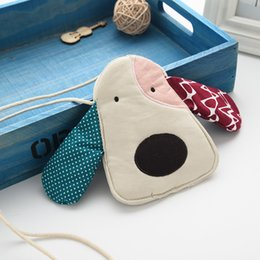 $enCountryForm.capitalKeyWord Canada - Cute Big Ears Dog Head Bag Kids Cotton Messager Bag Cartoon Kids Messager Wallet Lovely Exchange Purse Bag