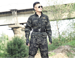 camouflage airsoft clothing 2019 - Men Camouflage Uniform Army Equipment Tactical Combat Set Airsoft Suit Pants Shirt Hunting Clothes Pantingball tactical