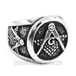 $enCountryForm.capitalKeyWord Canada - Free shipping! Masonic Ring Stainless Steel Jewelry New Freemasonry Symbol Masonic Biker Ring Men Ring Wholesale SWR0297B