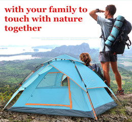 waterproof tent shelter Australia - 2016 Automatic Tent Opening Hydraulic Automatic Tent Camping Shelters Waterproof Sunny Double-deck Protective Outdoors Tents for 3-4 Person