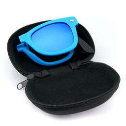 folding sunglasses 2018 - Wholesale-Men Women Foldable Sunglasses With original BOX Folding Glasses With Case Brand Designer Mirrored Sun Glasses