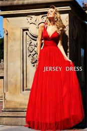 black coctail dresses NZ - free shipping maxi 2018 coctail V-neck red long dress vestidos formales evening long sexy beaded backless homecoming dresses