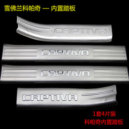 $enCountryForm.capitalKeyWord Australia - Stainless Steel Interior Scuff Plate Door Sill For Chevrolet Captiva Welcome Pedal Threshold Strip Car Styling Accessories 4 pcs set