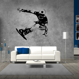 skate glasses Canada - Boys Sport Skating on Snowboard Wall Stickers for Boys Teens Room Decor Removable Skating Sport Wall Mural Home Decor Wall Posters