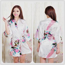763173b3d9 Wholesale- Short Sleeve Floral Sexy Plus Size Women Silk Robe Lady Girl  Silk Pajamas Housecoat Nightgowns Loungewear Sleepwear