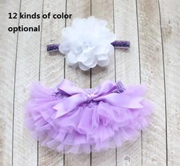 $enCountryForm.capitalKeyWord NZ - Girls Short Pants Cotton Layers Chiffon Ruffled Newborn Bloomer Bebe PP Shorts Baby Solid Color Shorts 20pcs(10pcs pants+10pcs hair bands)