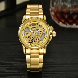 luxury watches drop ship Canada - 1pcs Women watch luxury style Automatic mechanical watch gold case frame hollow dial 33mm crystal watch by bbwatch Drop Shipping