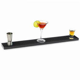$enCountryForm.capitalKeyWord UK - 60x8cm Rectangle Rubber Beer Bar Service Spill Mat for table black waterproof pvc mat kitchen glass coaster placemat free ship