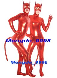 $enCountryForm.capitalKeyWord Canada - Sexy Cat Suit Red Shiny Lycra Metallic Cat Catsuit Costumes Fantastic Cat Suit Outfit Unisex Cosplay Costumes Halloween Cosplay Suit M200