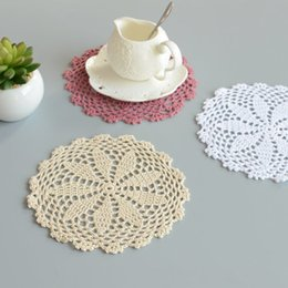 Pattern Decor Australia - Lot of 12 pcs ~Gorgerous round doilies for wedding, nice crochet pattern coasters, table doily mats for home decor part decor, gift for Mom